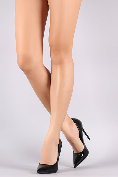 Patent Pointy Toe Stiletto Pump