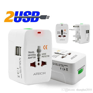Universal World Travel AC Power Adapter Converter All in One to US UK AU EU NEW