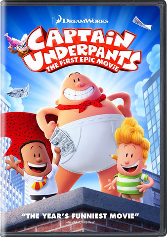 Captain Underpants DVD The First Epic Movie DreamWork | Kevin Hart Ed Helms David Soren