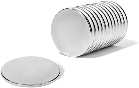 Magnet Disc For Crafts With Adhesive Backing | Strong Metal Used On Fridge, Refrigerator, Earth, Office Car, Projects, DIY Holder - 12 Pack Powerful Rare Piece Plate