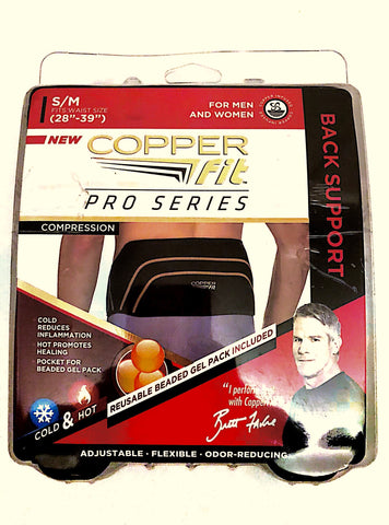 Brace Support For Lower Back Pain By CopperFit | Fit Pro With Back Support Padded Against Pain, Muscle Stiffness & Soreness