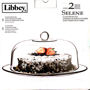 Cake Dome Glass Libbey Selene Cake Glass Cake Carrier By Libbey Selene | CONT. 2-piece Cake Dome For Wedding Christmas Birthday Dinner Party