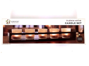 Candles Bulk Set of 5 Scented Candles For Men And Women Perfect Decoration And Scent By Home Collection | 5-piece Votive Candle Set Add Ambient Lighting To Any Room