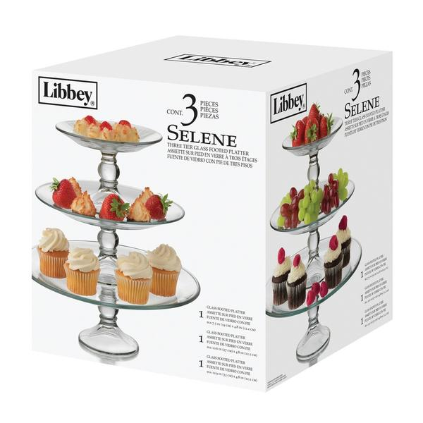 Glass Cake Carrier Dome Stand By Libbey Selene | 2-piece Cake Dome For Wedding Christmas Birthday Dinner