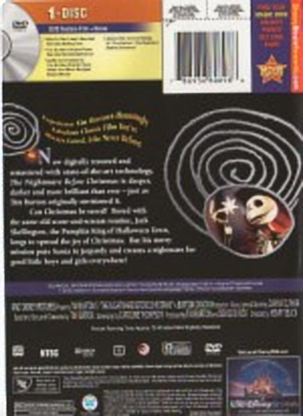 The Nightmare Before Christmas DVD Animated Collector's Edition Tim Burtons | Chris Sarandon Danny Elfman Henry Selick