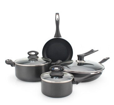 COOKING POTS COOKWARE SET pan and pot nonstick CASSEROLE+ wok+frypan+ saucepan+ 7pcs