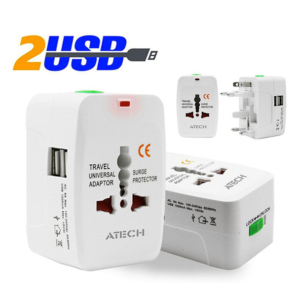 All in One Universal International Plug Adapter World Travel AC Power Charger Adaptor with AU US UK EU converter Plug