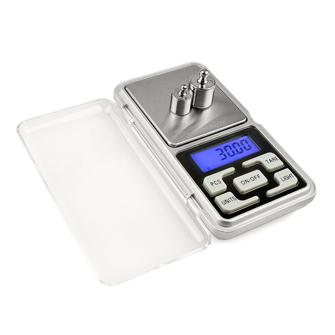 NEWACALOX 200g x 0.01g Mini Precision Digital Scales for Gold Bijoux Sterling Silver Scale Jewelry 0.01 Weight Electronic Scales - 6 PCS