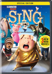 Sing Special Edition Disc Set DVD Incudes 3 New Mini Movies & Songs Limited Edition By LUD | Matthew McConaughey Reese Witherspoon Garth Jennings