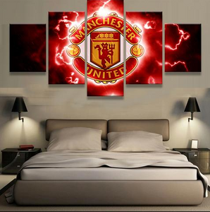 5 Piece Manchester United Football Club Framed Canvas Print