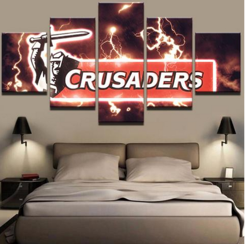 5 Piece Crusaders Framed Canvas Print