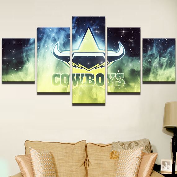 5 Piece North Queensland Cowboys Framed Canvas Print
