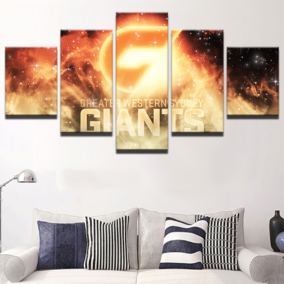 5 Piece GWS Giants Canvas Print