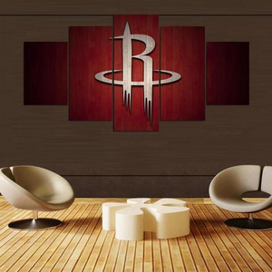 5 Piece Houston Rockets Basketball Framed Canvas Print