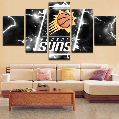 5 Piece Pheonix Suns Basketball Framed Canvas Print