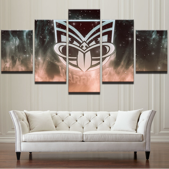 5 Piece Warriors Framed Canvas Print