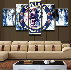 5 Piece Chelsea Football Club Framed Canvas Print