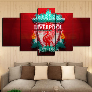 5 Piece Liverpool Football Club Framed Canvas Print