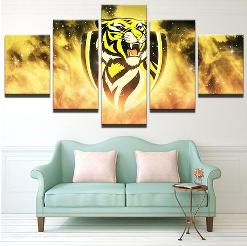 5 Piece Richmond Tigers Framed Canvas Print