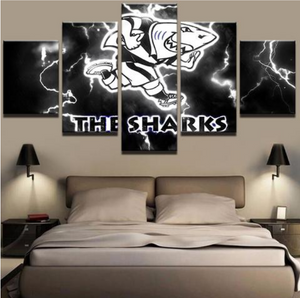 5 Piece The Sharks Canvas Print
