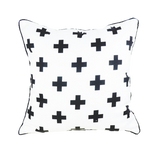 White Cross Pillow Cover