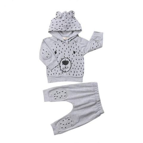 Bear Hooded Sleeve Top + Pants