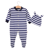 Blue Stripe Jumpsuit Set