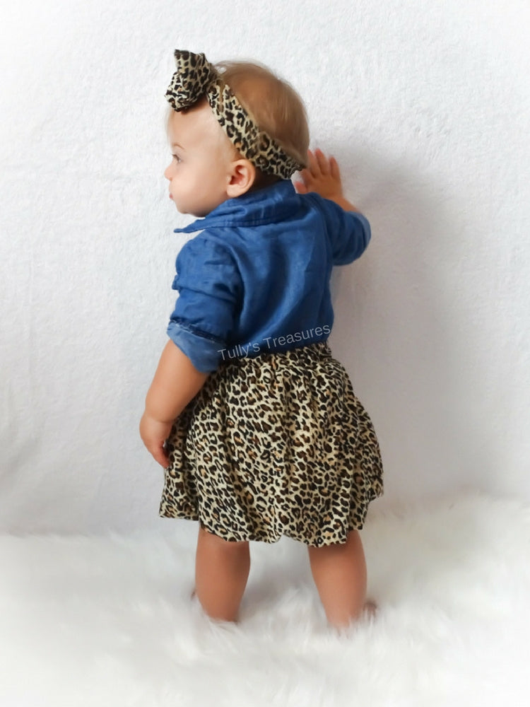 d07e9cf73 Denim Top + Cheetah Skirt   Headband-3pcs – Tully s Treasures