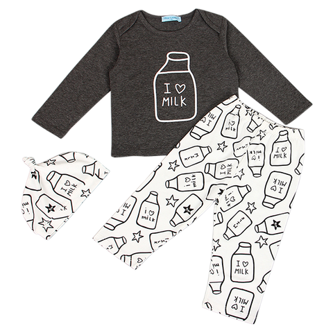 I Love Milk Clothing Set