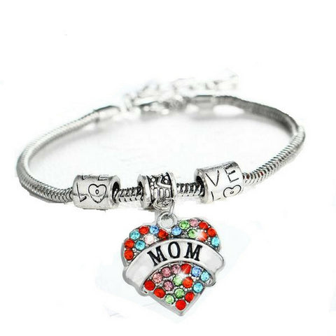 Family Love Heart Bracelet