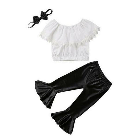 Sabina Off Shoulder + Bell Pants 3pcs Set