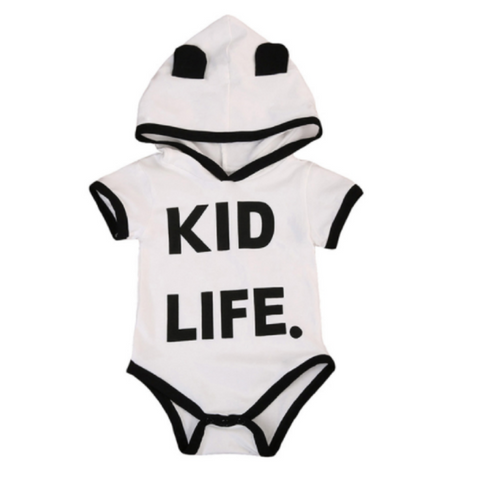 Kid Life Hooded Romper
