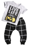 Live Life Loud Clothing Set