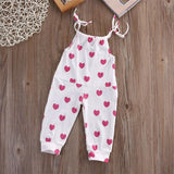 Girls Pink Heart Bodysuit