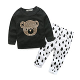 Baby Bear Dotted Pants Set
