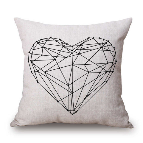 Heart Pillow Cover