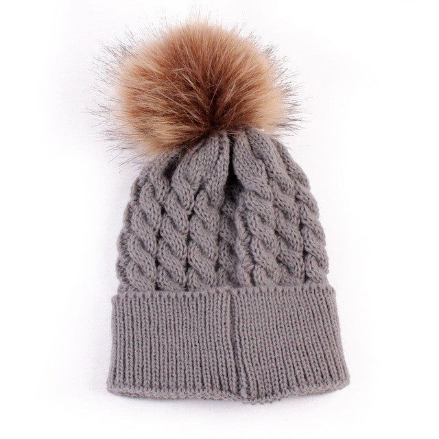 4671298b28324 Newborn baby Knitted Pom Hat. Images   1   2 ...