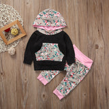 Black & Grey Floral Baby Clothing Set