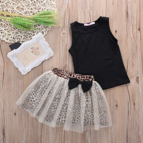 Cheetah Tutu Skirt + Tank Top
