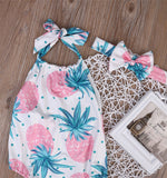 Tropical Strawberry Romper + Headband