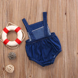 Baby Fox Denim Romper