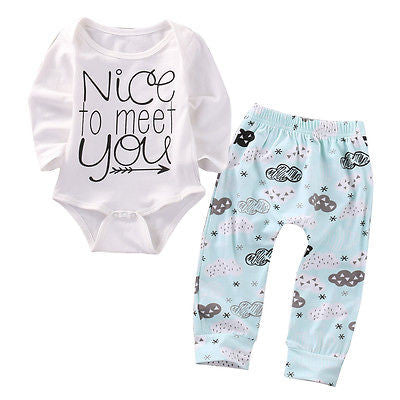 Nice To Meet You Bodysuit Set
