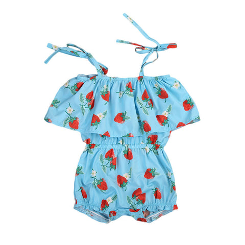 Danica Strawberry Romper