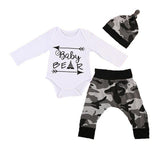 Baby Bear Bodysuit + Pants 3pcs Set
