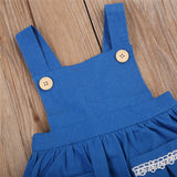 Princess Backless Denim Dress