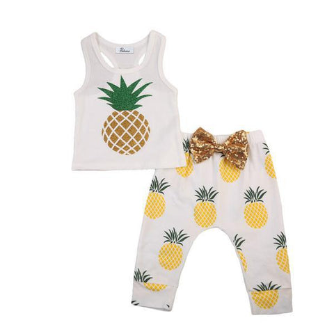 Pineapple Top & Pants Set