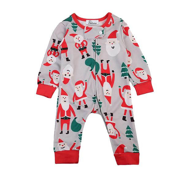 Santa Claus Zipper Jumpsuit
