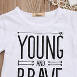 Young & Brave Top + Faded Jeans