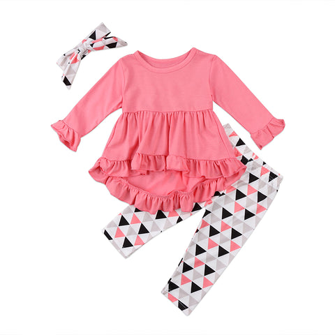 Kate Mini Dress + Pants 3pcs Set