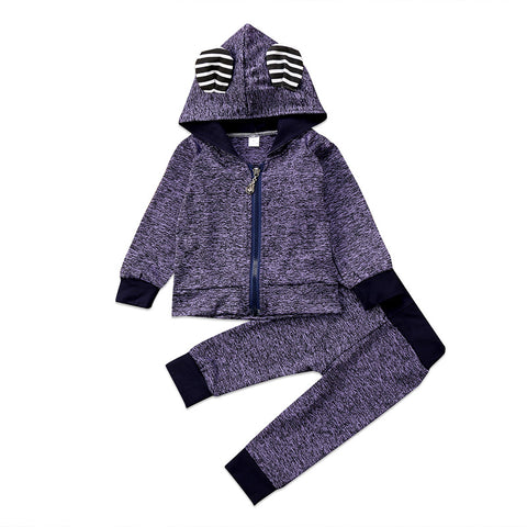 Ear Hooded Top & Pants